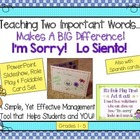 Teaching I'm Sorry - Lo Siento - A Classroom Management To