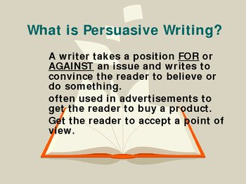 Teaching Persuasive Writing