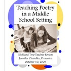 Teaching Poetry In A Middle School