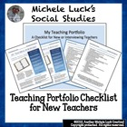 Teaching Portfolio Checklist for New Teachers or Teacher I