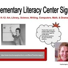 K-5 Literacy Center Labels: 7 Learning Center Signs