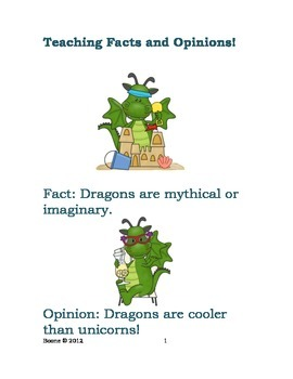 Teaching Students Facts vs. Opinions