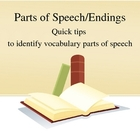 Teaching Word/Vocabulary Endings and Suffixes with PowerPoint