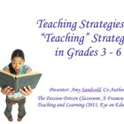 Teaching vs. TEACHING Grades 3 - 6: A Literacy Coaching Tool