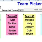 Team Picker - Classroom License  A Pinkley Product