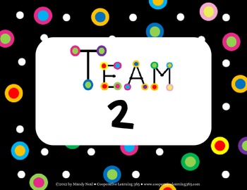 Team Signs-Black with Dots