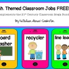 Tech. Themed Classroom Jobs FREEBIE