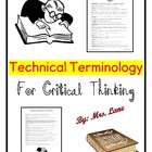 Technical Terminology for Critical Thinking