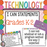 Technology NETS I Can Statements for the Computer Lab: K-2 Set