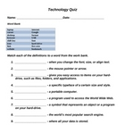 Technology Quiz/Assessment