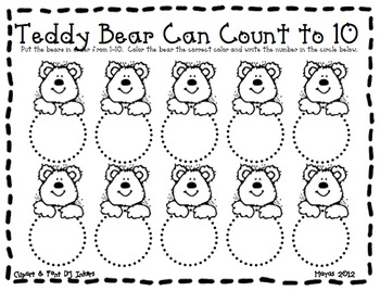 Teddy Bear Math & Literacy Pack