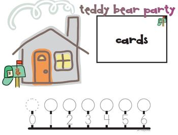 Teddy Bear Party Addition to 6 and 10 Game