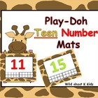 Teen Number Play-Doh Mats
