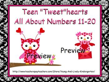 Teen Number Tweethearts for Promethean Board