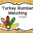 Teen Numbers - Matching Turkey Theme