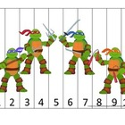 Teenage Mutant Ninja Turtles daycare curriculum game.  Num