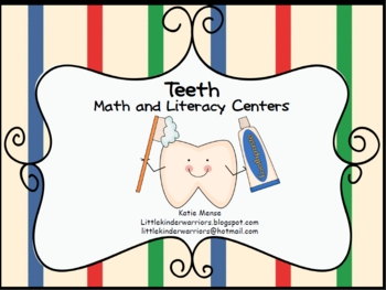 Teeth and Dental Health Math & Literacy Centers