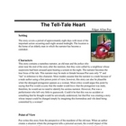 Tell-Tale Heart, Edgar Allan Poe class notes