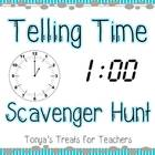 Telling Time Around the Classroom Scavenger Hunt