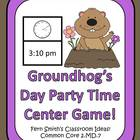 Telling Time Center Game - Groundhog Day Party Time!