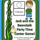 Telling Time Center Game - Jack and the Beanstalk Party Time