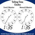 Telling Time Clocks Clip Art Bundle