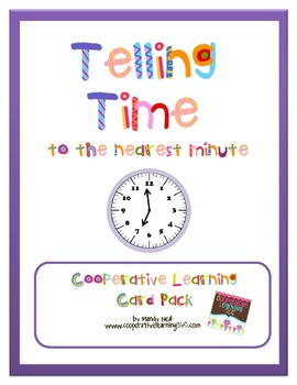 Telling Time Cooperative Learning Card Pack