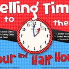 Telling Time: Hour & Half Hour {Posters, Activities, Task