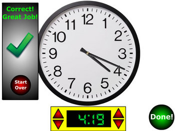Telling Time Interactive Flash Clock