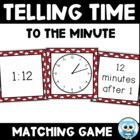 Telling Time Match Vol.4 (black/white) - Time to the Minute