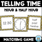 Telling Time Match Volume 1 (color) - Hour and Half Hour