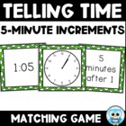 Telling Time Match Volume 3 (black/white) - 5 Minute Increments