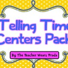 Telling Time Math Centers Activities Pack