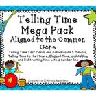 Telling Time Mega Pack Aligned to the Common Core Standards