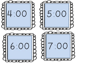 Telling Time Memory Game {Time to the Hour}