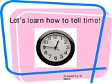 Telling Time Practice Power Point Presentation