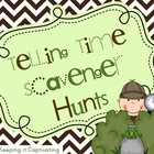 Telling Time Scavenger Hunts