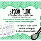 Telling Time Spoon Time Game - Telling Time to Quarter After