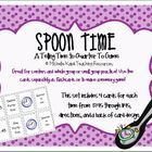 Telling Time Spoon Time Game - Telling Time to Quarter To