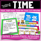 Telling Time in 2nd Grade for the Common Core Classroom