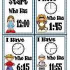 Telling Time in the Land of Oz I Have/Who Has Game