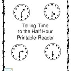 Telling Time to the Half Hour Printable Book