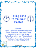 Telling Time to the  Hour Packet