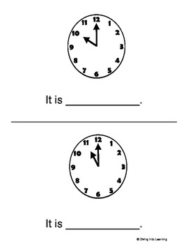 Telling Time to the  Hour Printable Book