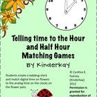 Telling Time to the Hour and Half Hour Matching game