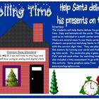 Telling Time to the hour and half hour: Help Santa Deliver