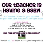 Telling your Students that you are Pregnant!