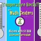 Temperature Rocks!!! Master Thermometer Math Center 2nd Gr