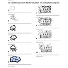Tempo (Weather in Italian) worksheet 2