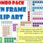 Ten Frame Clip Art **COMBO PACK!** 0-10 - Common Core Math Aid